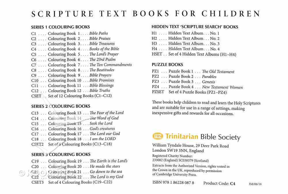 Books of the Bible Colouring Book (#04 in Outline Texts For Colouring Series) Paperback
