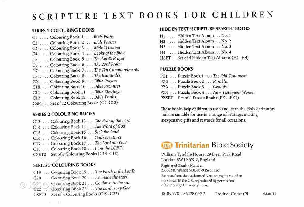 Bible Prayers Colouring Book (#09 in Outline Texts For Colouring Series) Paperback