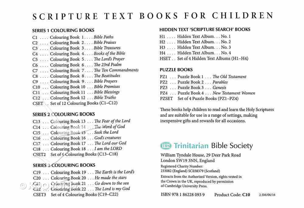 Bible Promises Colouring Book (#10 in Outline Texts For Colouring Series) Paperback
