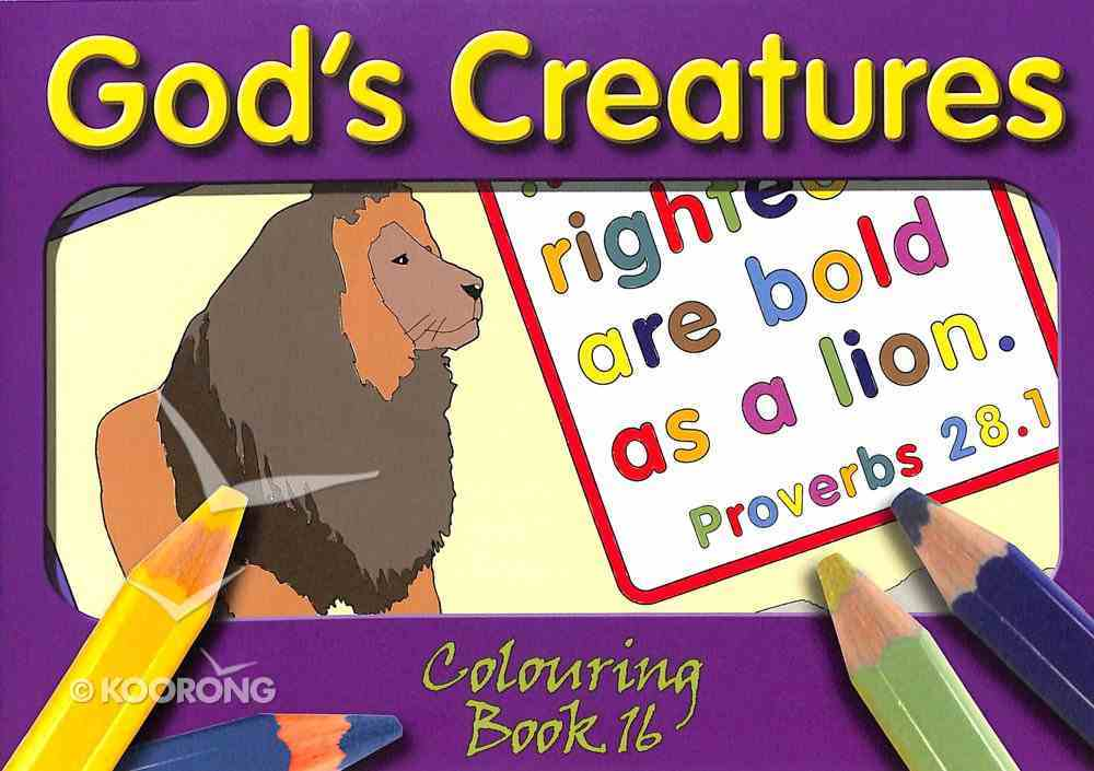 God's Creatures (#16 in Outline Texts For Colouring Series) Paperback