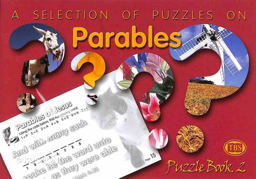 Puzzles on Parables (#02 in Trinitarian Puzzle Book Series) Paperback
