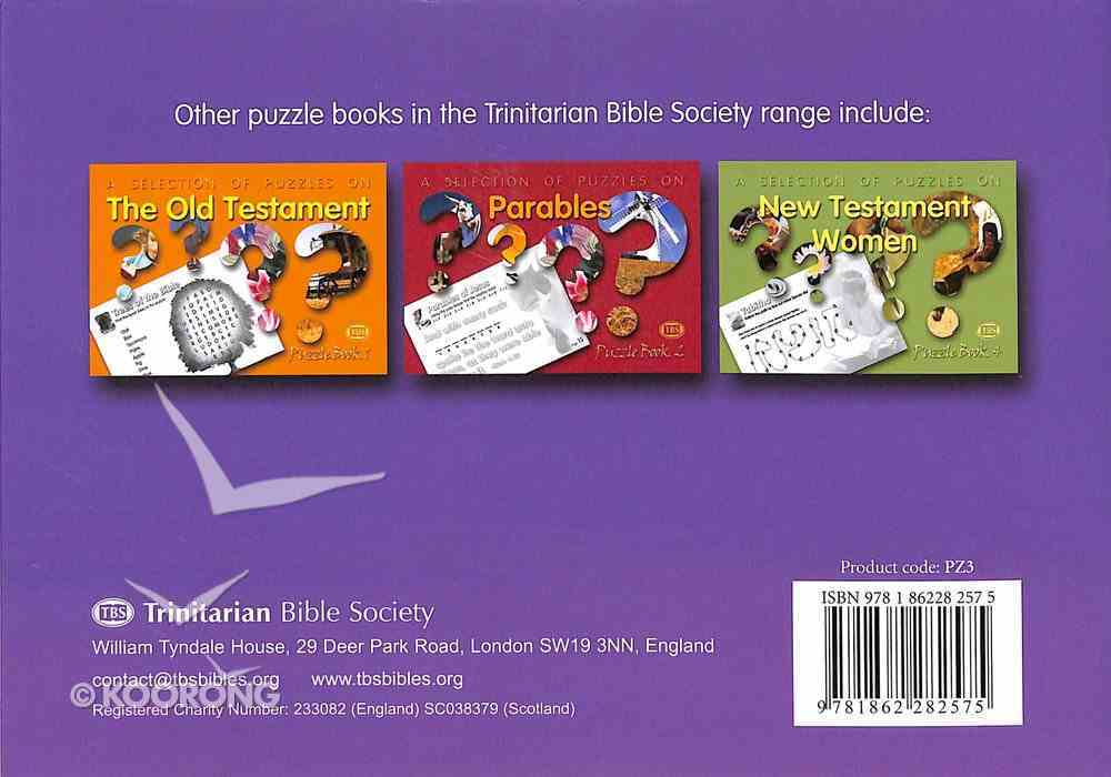 Puzzles on Genesis (#03 in Trinitarian Puzzle Book Series) Paperback