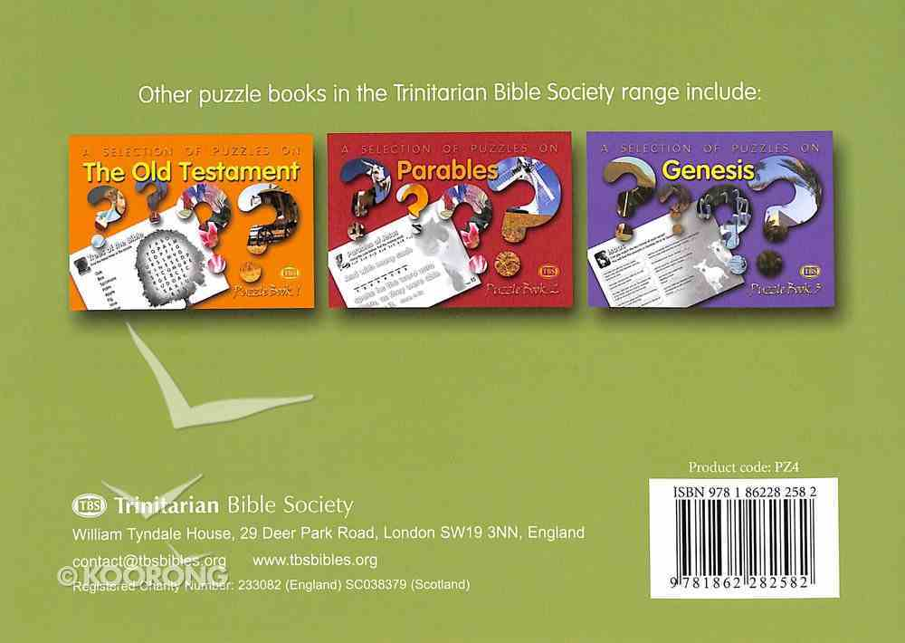 Puzzles on New Testament Women (#04 in Trinitarian Puzzle Book Series) Paperback