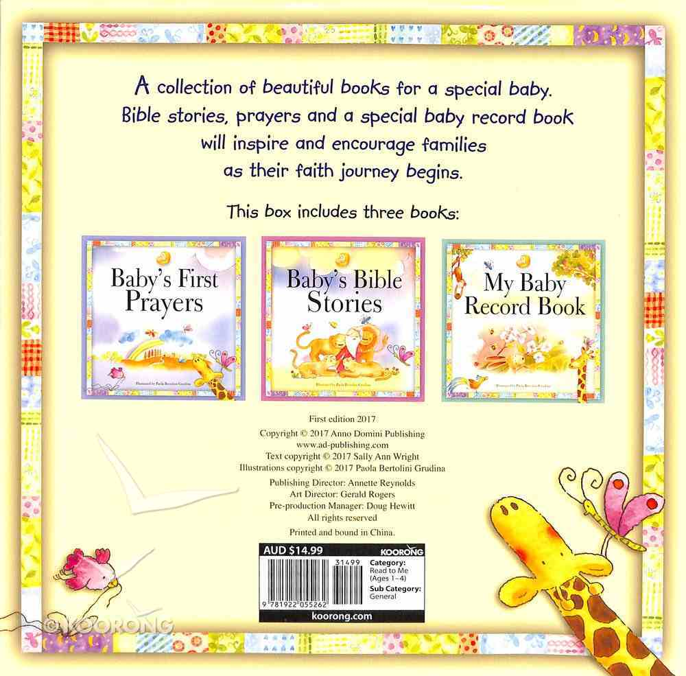 The Baby Box (3 Volume Set) (Baby's First Prayers, Baby's Bible Stories, My Baby Record) Paperback