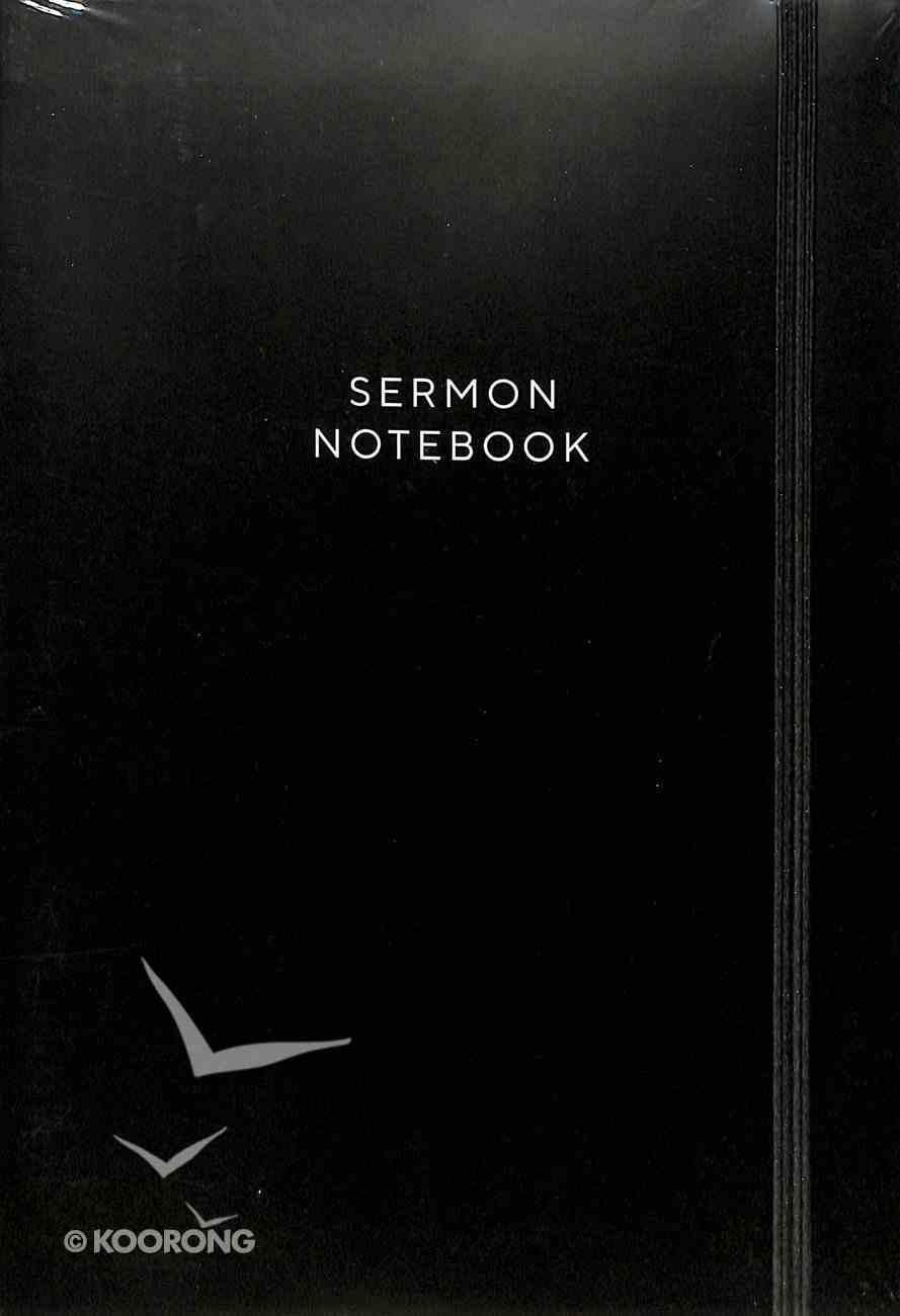 Sermon Notebook (Black With Elastic Closure) Paperback