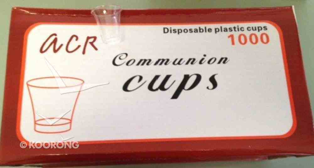 Communion Cups Clear Plastic (Box Of 1000) Box