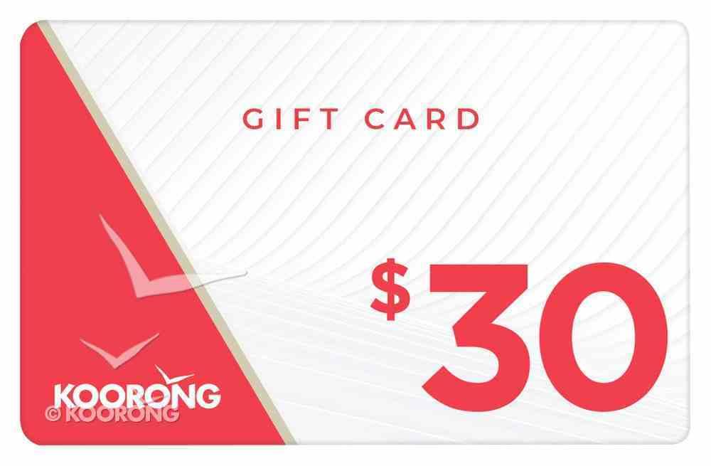 Koorong Gift Card $30.00 Gift Card