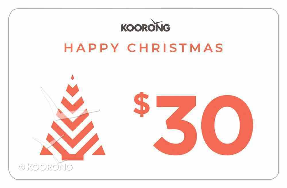 Christmas Gift Card $30 Gift Card