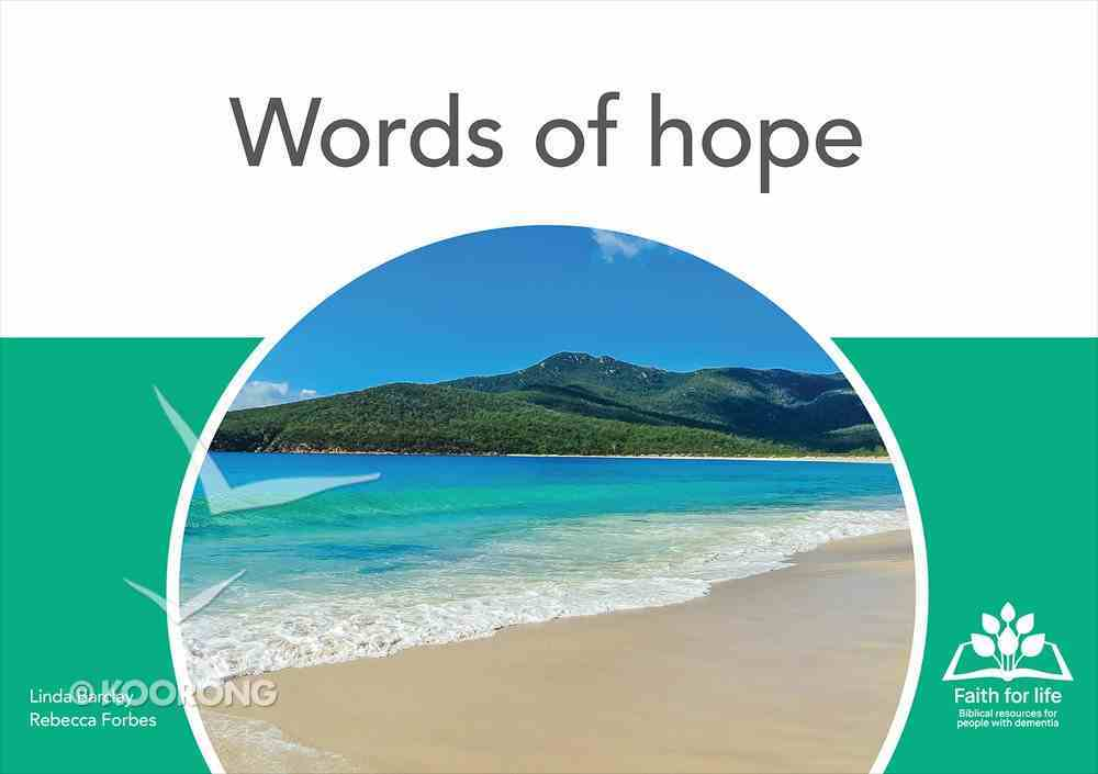 Words of Hope (12 A4 Double Sided Colour Flash Cards) (Faith For Life Series) Chart/card
