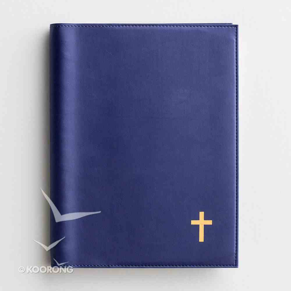 2019 Appointment Diary/Planner: Navy Premium Faux Leather, Cross/Gold Foil Spiral