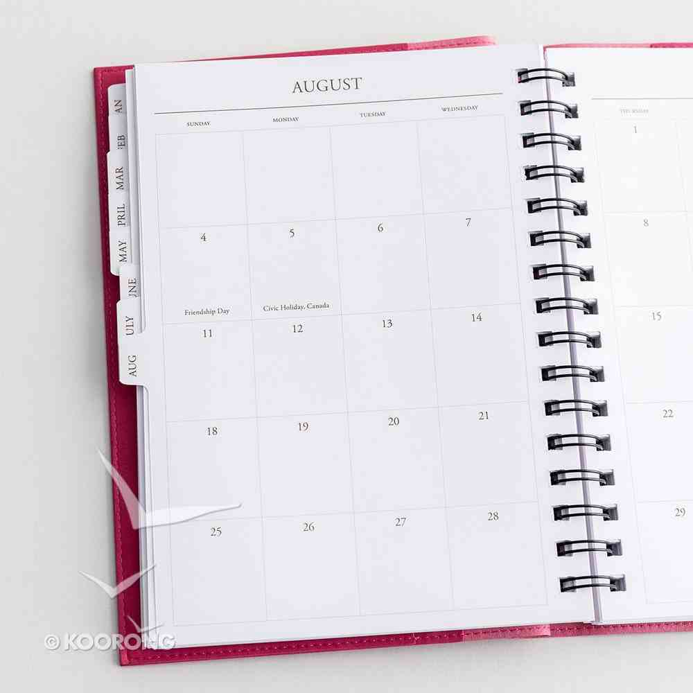 2019 Appointment Diary/Planner: Hope/Silver Foil, Premium Faux Leather Spiral