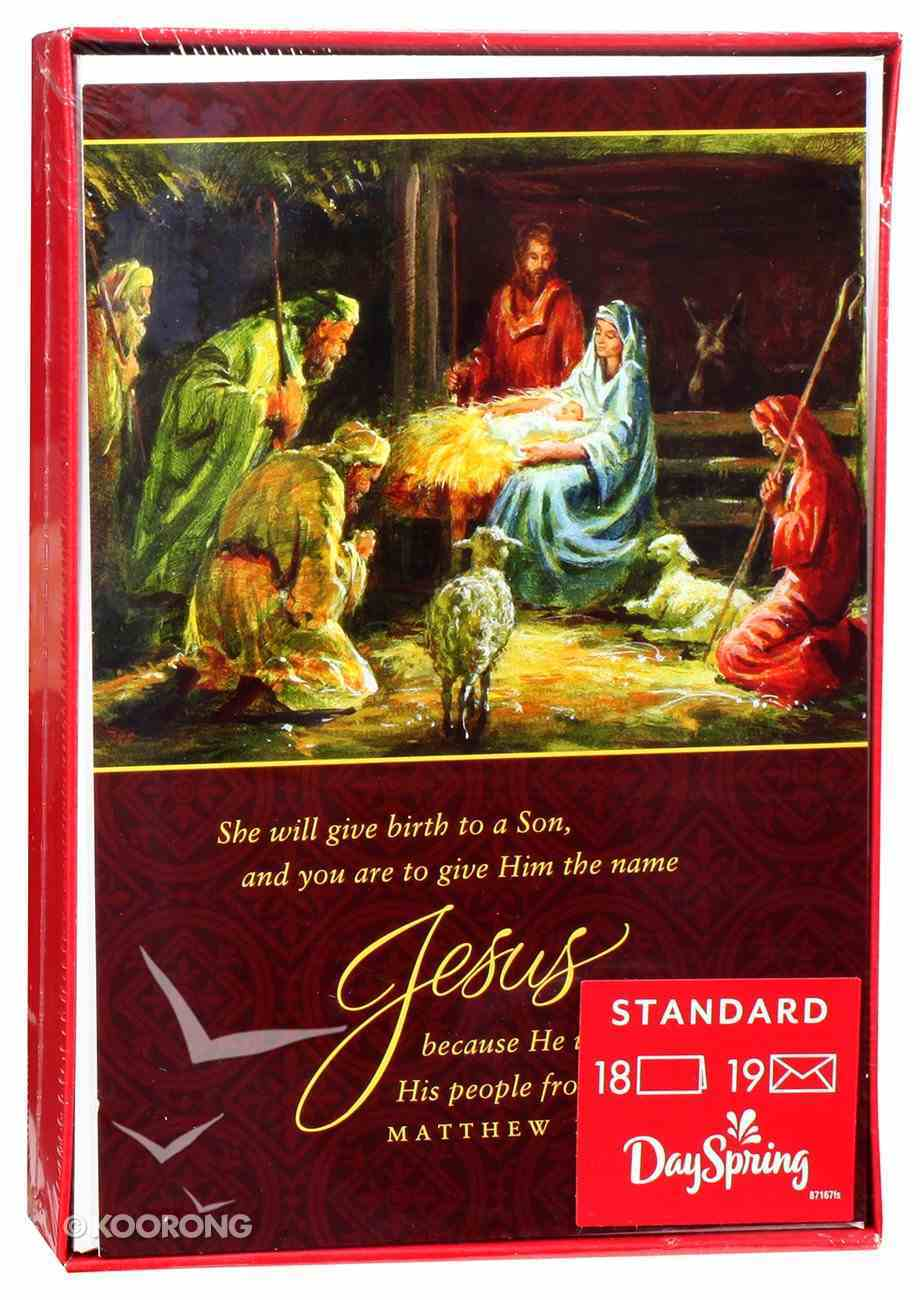 Christmas Boxed Cards: She Will Give Birth to a Son (Matthew 1:21) Box