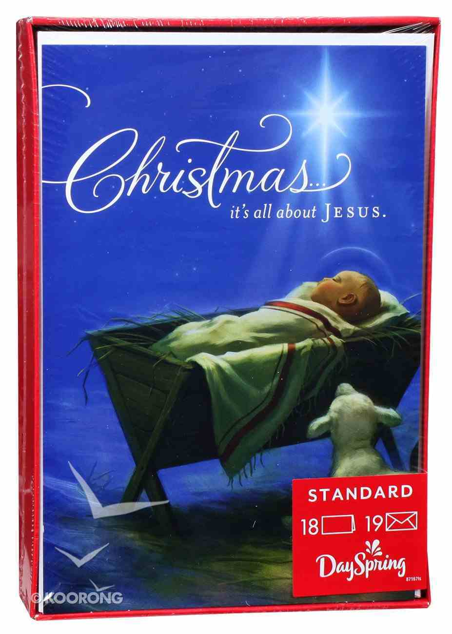 Christmas Boxed Cards: Christmas It's All About Jesus (1 Corinthians 16:23) Box