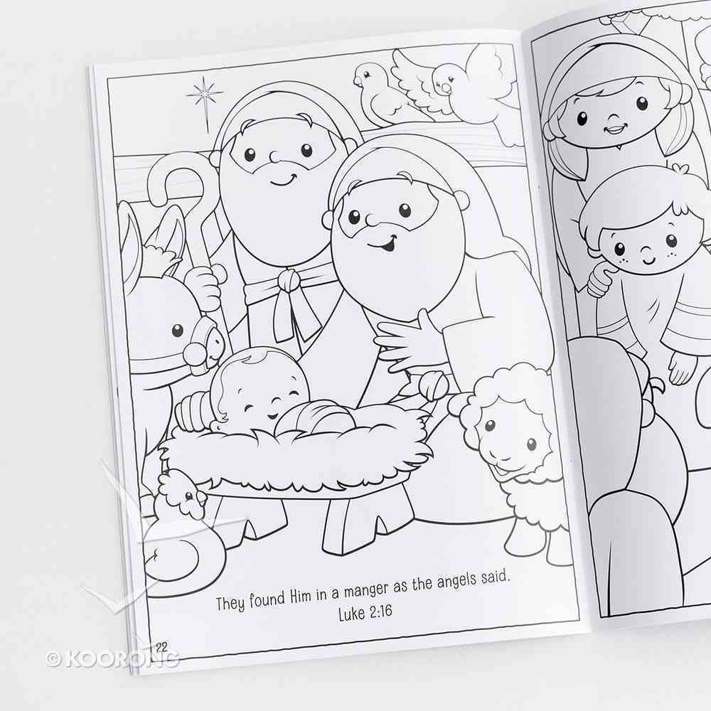 Christmas Activity Coloring Book: It's All About Jesus Paperback