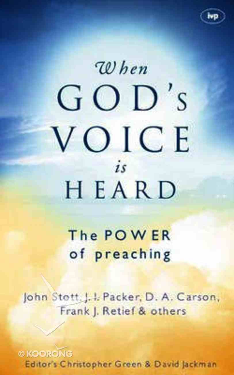 When God's Voice is Heard Paperback