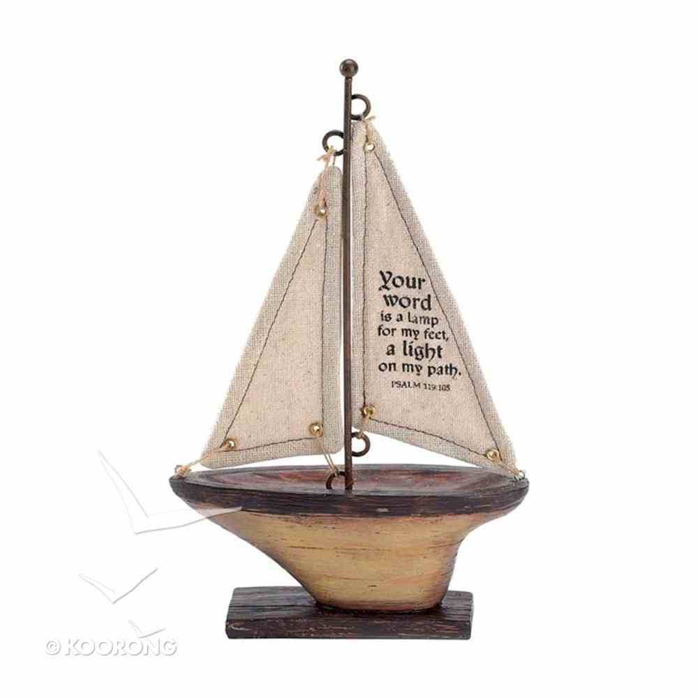 Sailboat Tabletop: Your Word is a Lamp (Psalm 119:105) Homeware