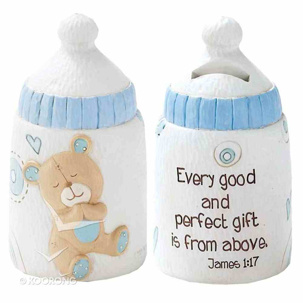 Baby Bear Bank: Boy - Every Good and Perfect Gift is From Above (James 1:17) Homeware