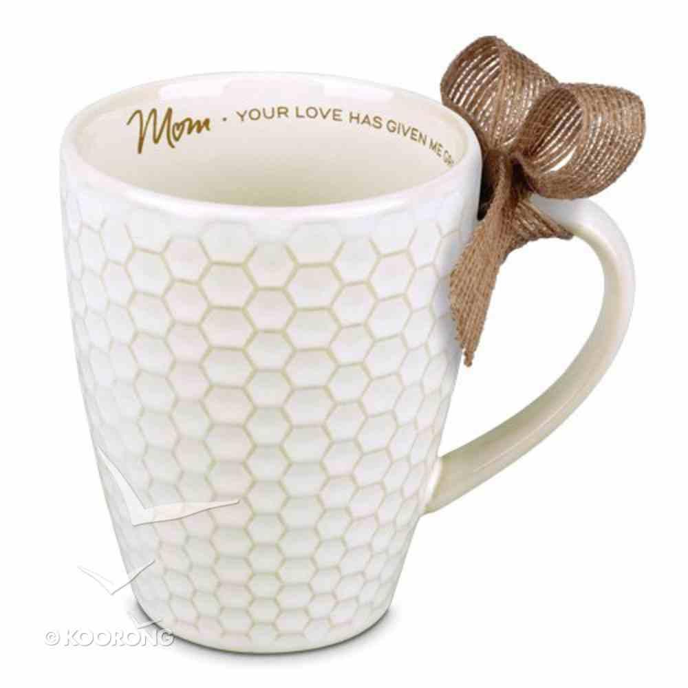 Ceramic Textured Mug: Blessings Mum, Cream (Philemon 1:7) Homeware