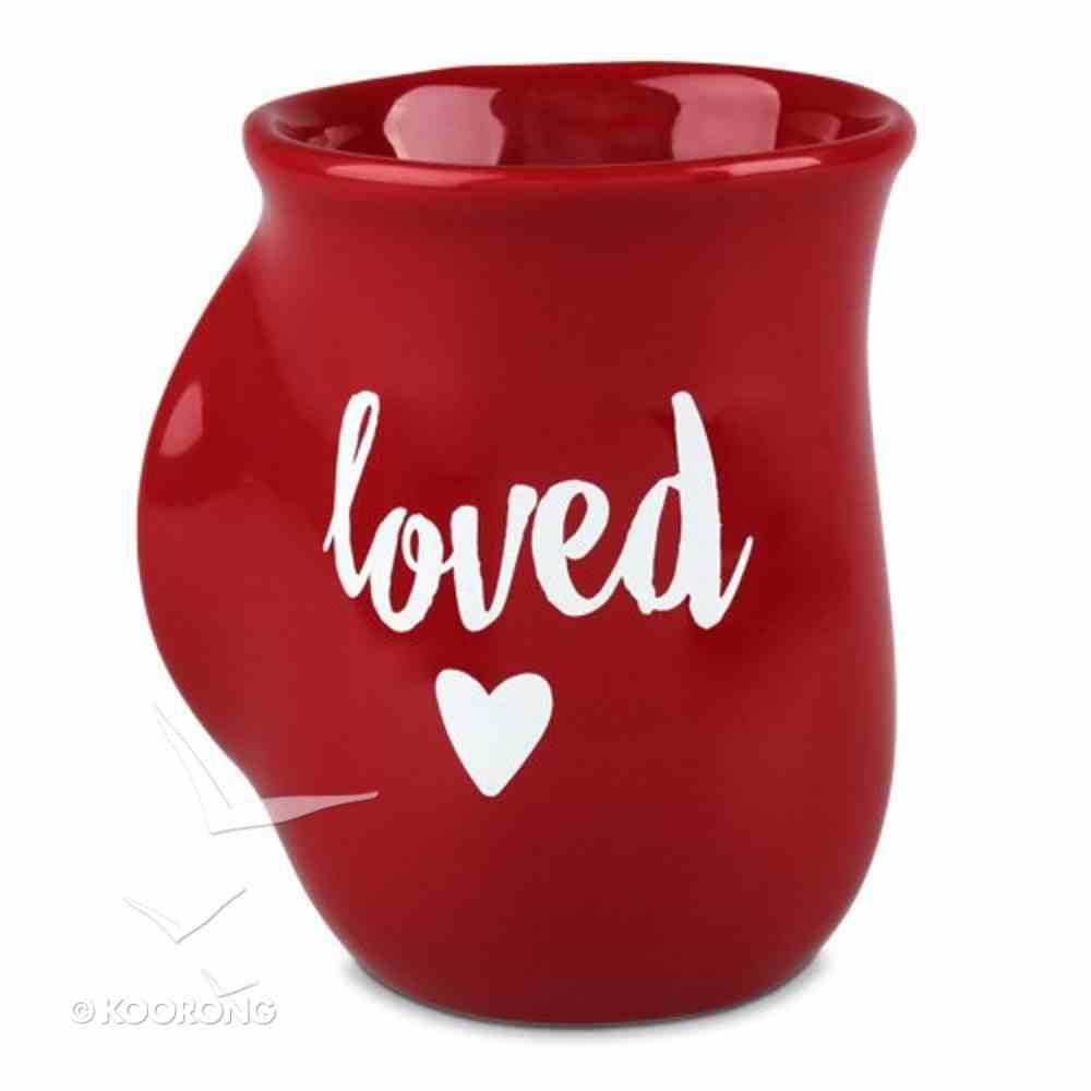 Ceramic Handwarmer Mug: Loved Red (Psalm 23:6) Homeware
