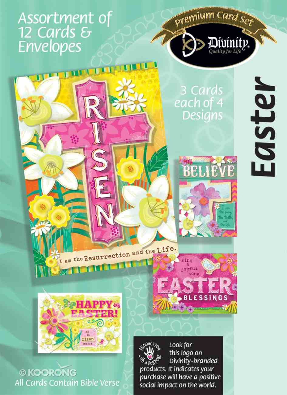 Easter Boxed Cards: Cross/Floral Box