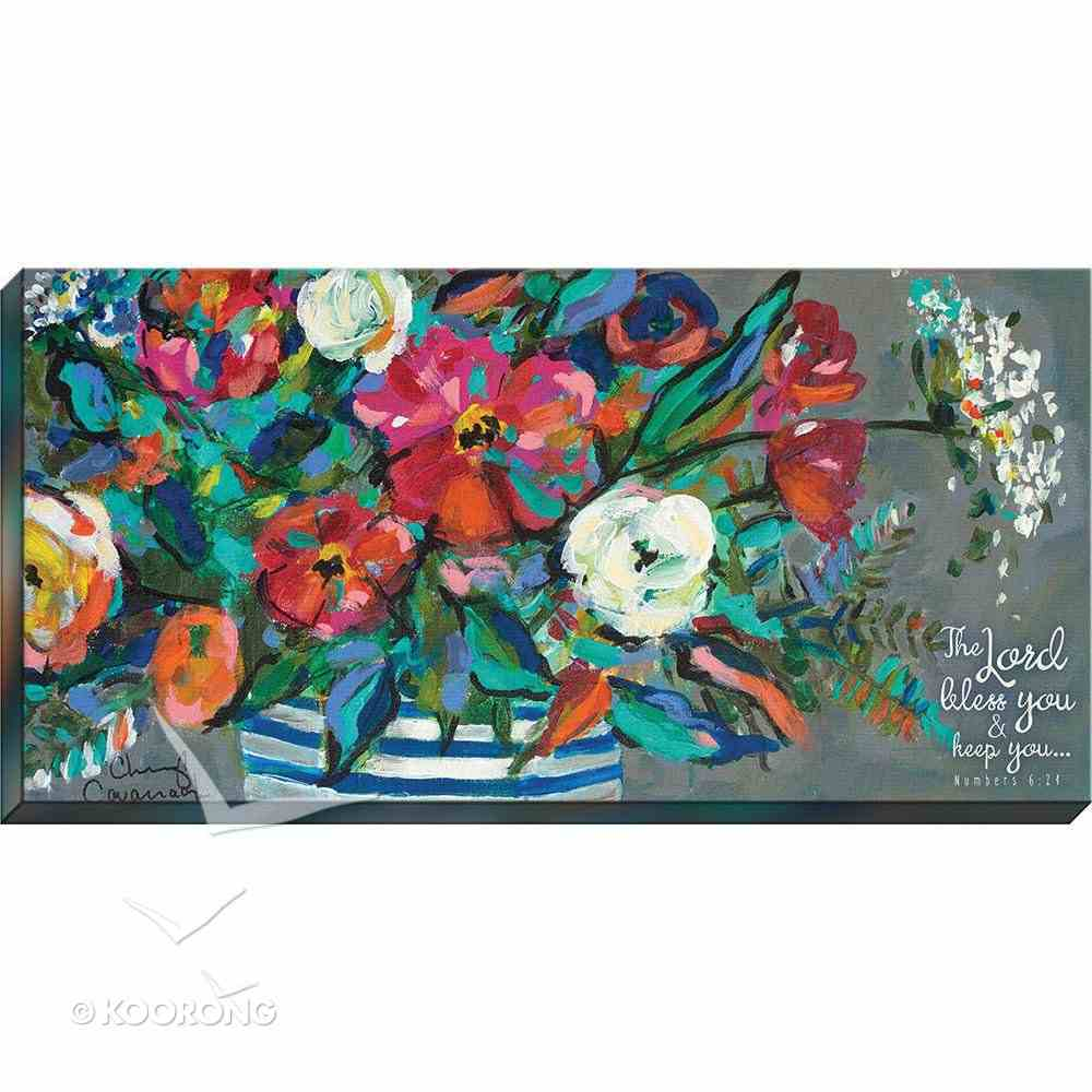Canvas Wall Art: The Lord Bless You and Keep You, Floral Bouquet Plaque
