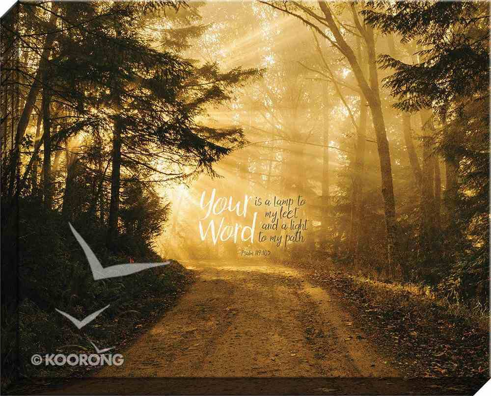 Canvas Wall Art: Your Word is a Lamp Unto My Feet, Forest Plaque