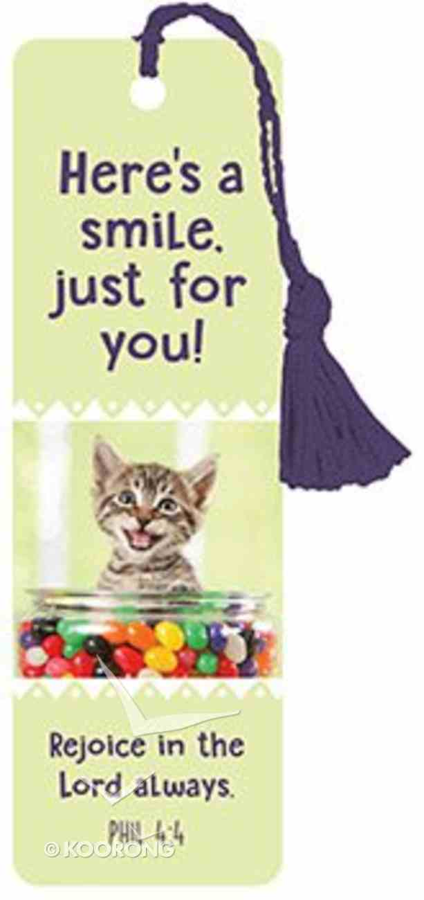 Bookmark With Tassel: Here's a Smile Just For You! Stationery