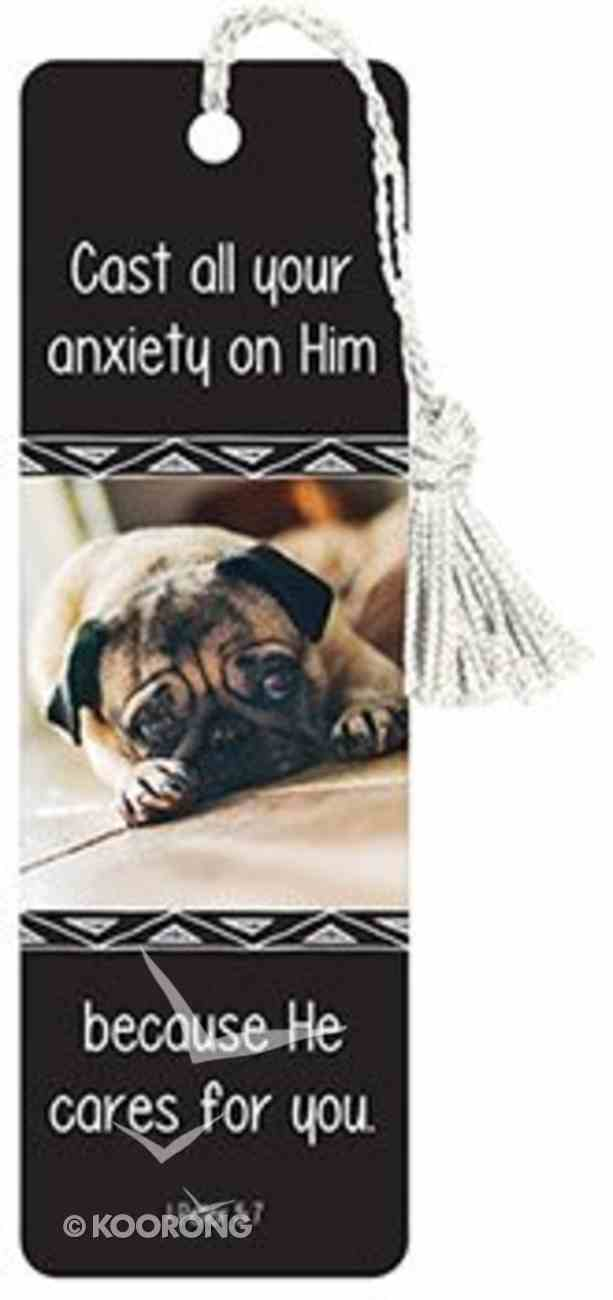 Bookmark With Tassel: Cast All Your Anxiety Stationery