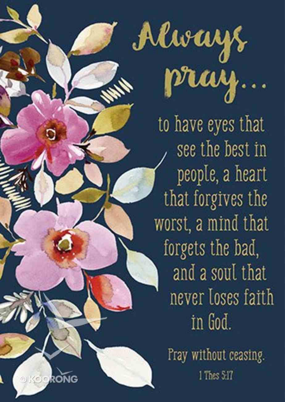 Poster Large: Always Pray... Poster