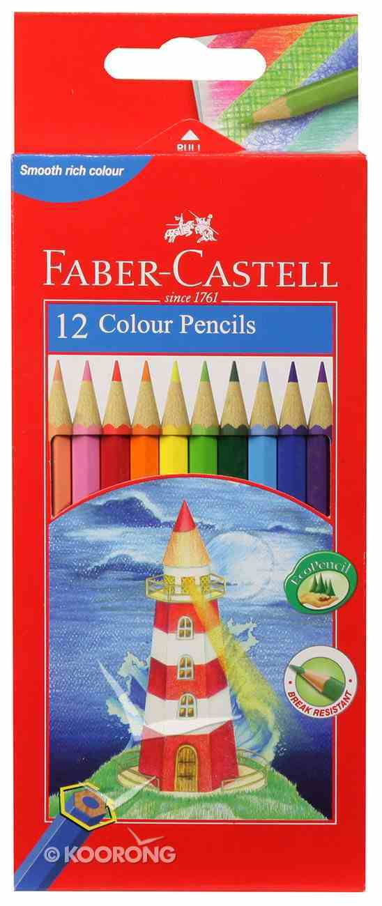 Faber-Castell Full Length Hex Colour Pencils Set of 12 Stationery