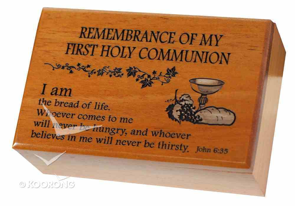 Wooden Keepsake Box: First Holy Communion, I Am the Bread of Life Homeware