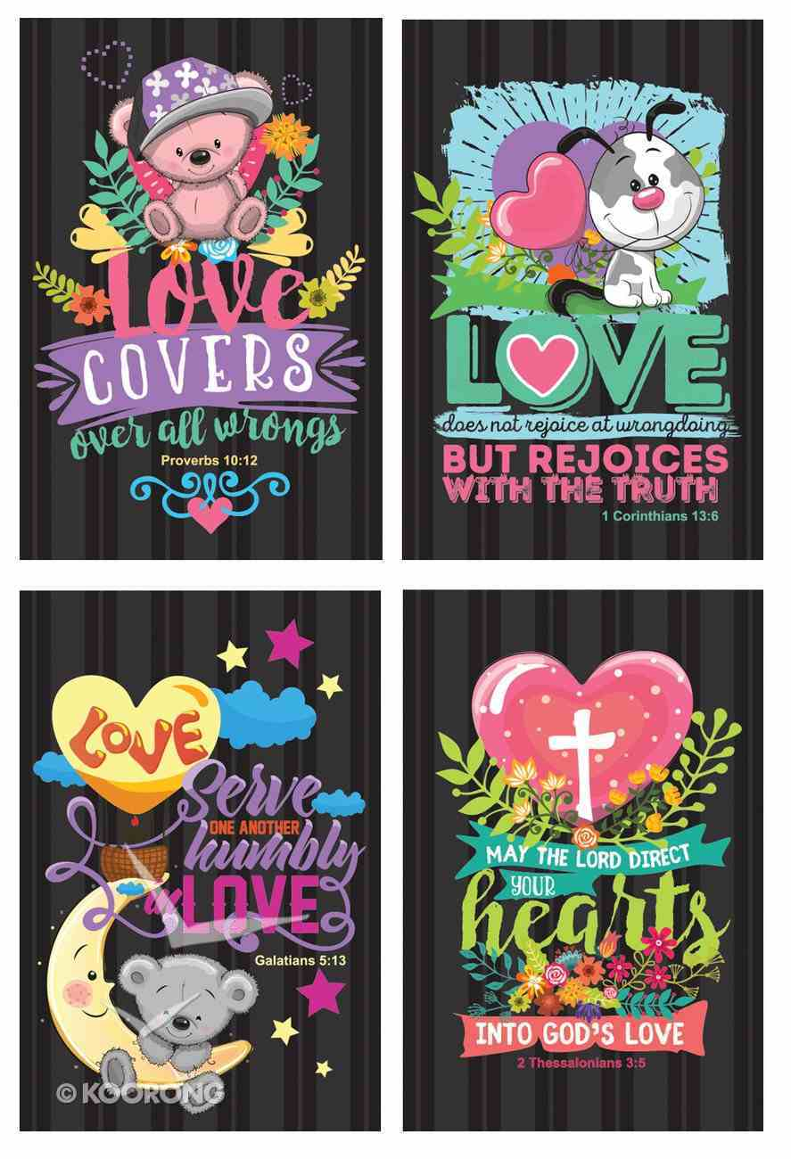 Notepad Set of 4: Love Series Stationery