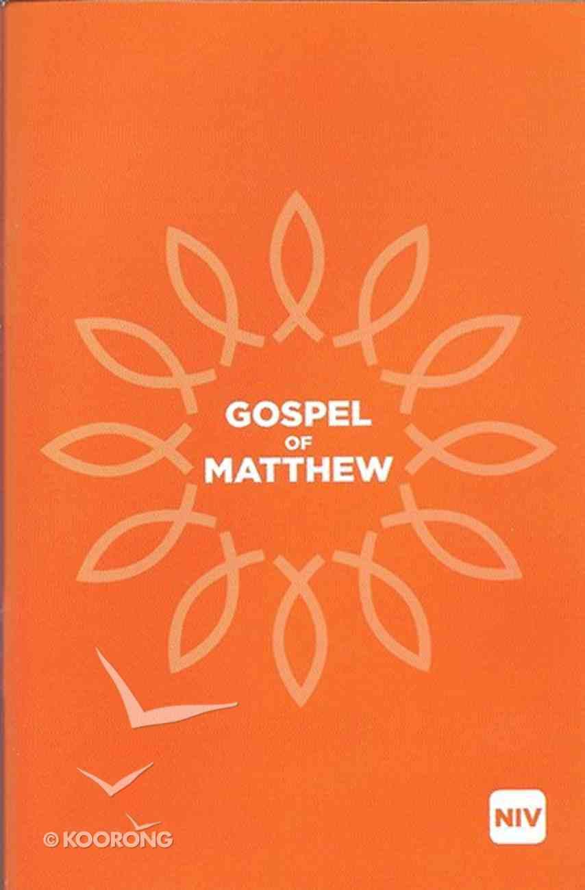 NIV Gospel of Matthew Black Letter Paperback