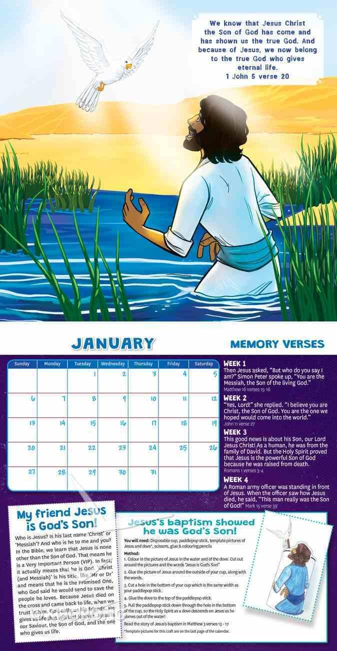 2019 Kids Calendar: My Friend Jesus Calendar