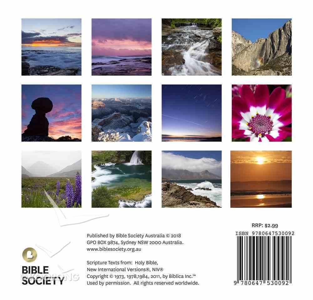 2019 Wall Calendar: God's Creative Power Calendar