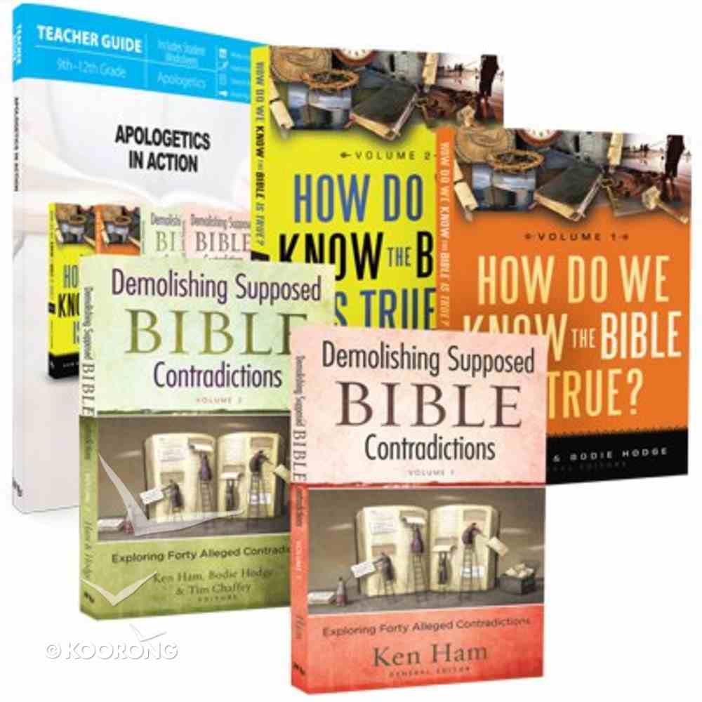 Apologetics in Action: How Do I Know the Bible is True 1&2, Demolishing Supposed Bible Contradictions 1&2, Parent Lesson Planner (Package) Pack