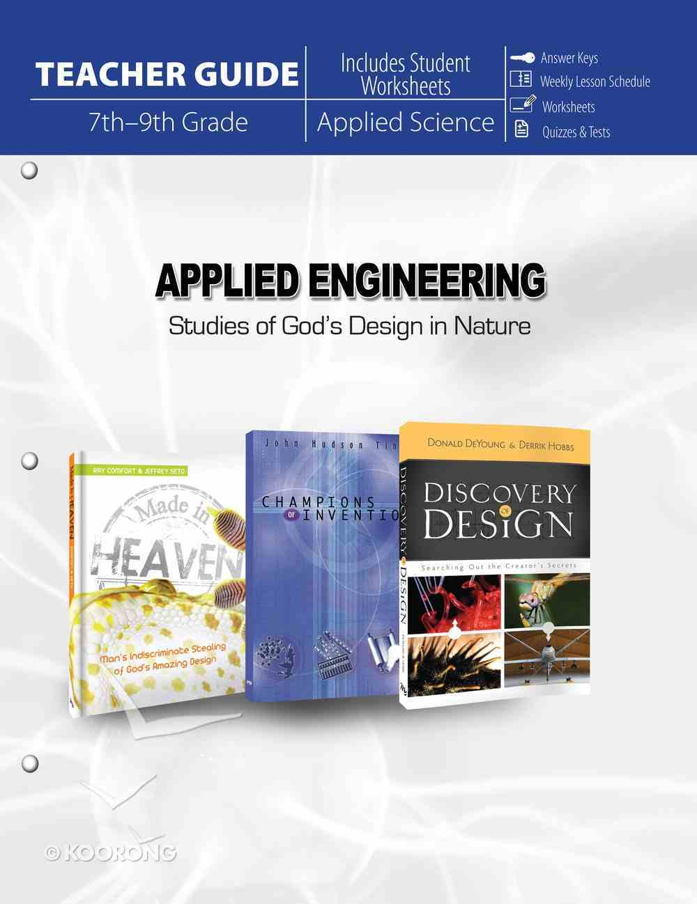 Applied Engineering: Studies in God's Design in Nature Paperback