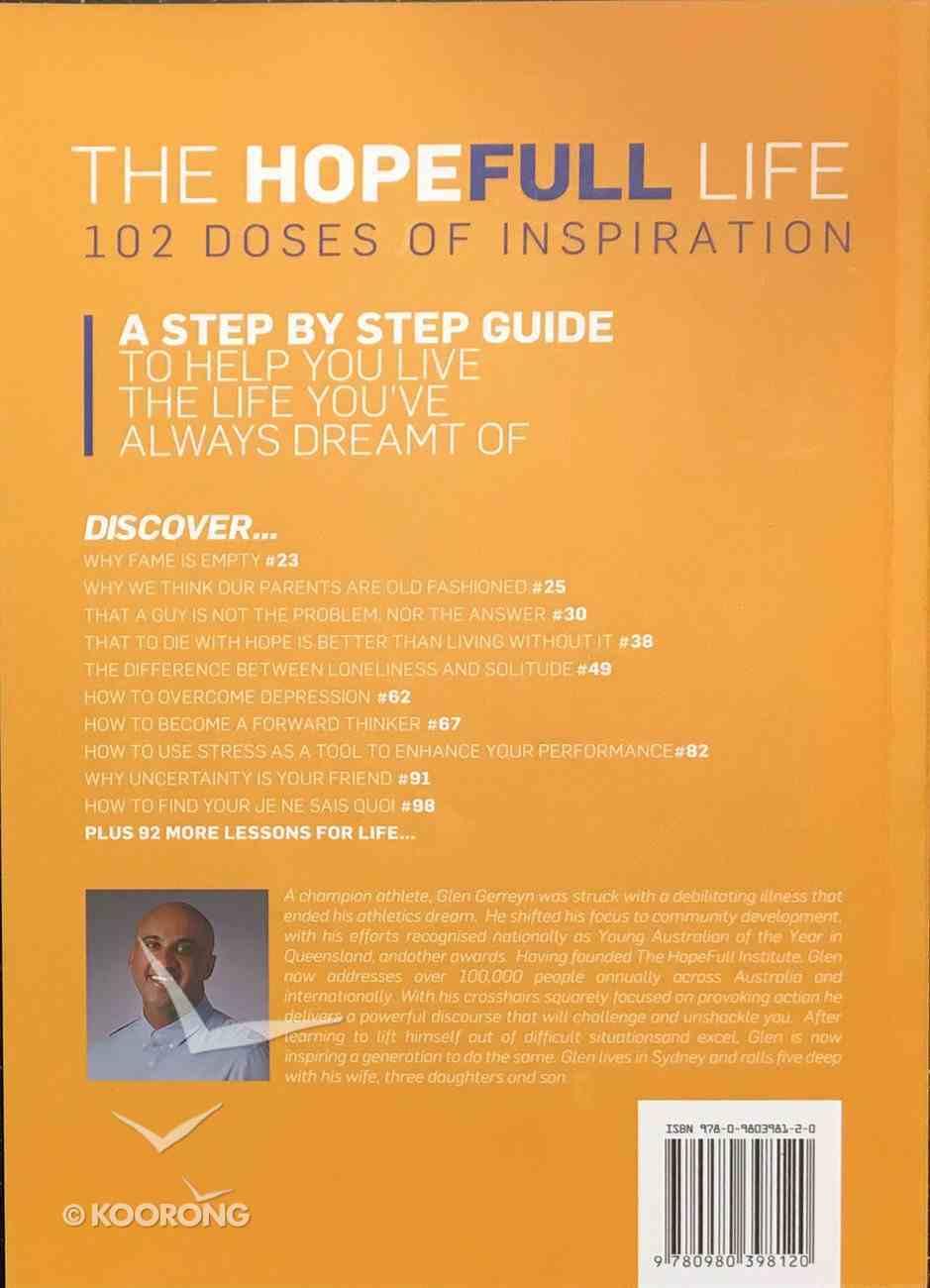 The Hopefull Life: 102 Doses of Inspiration Paperback