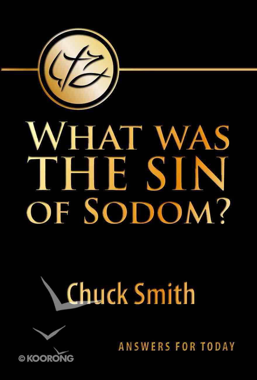 What Was the Sin of Sodom? Booklet