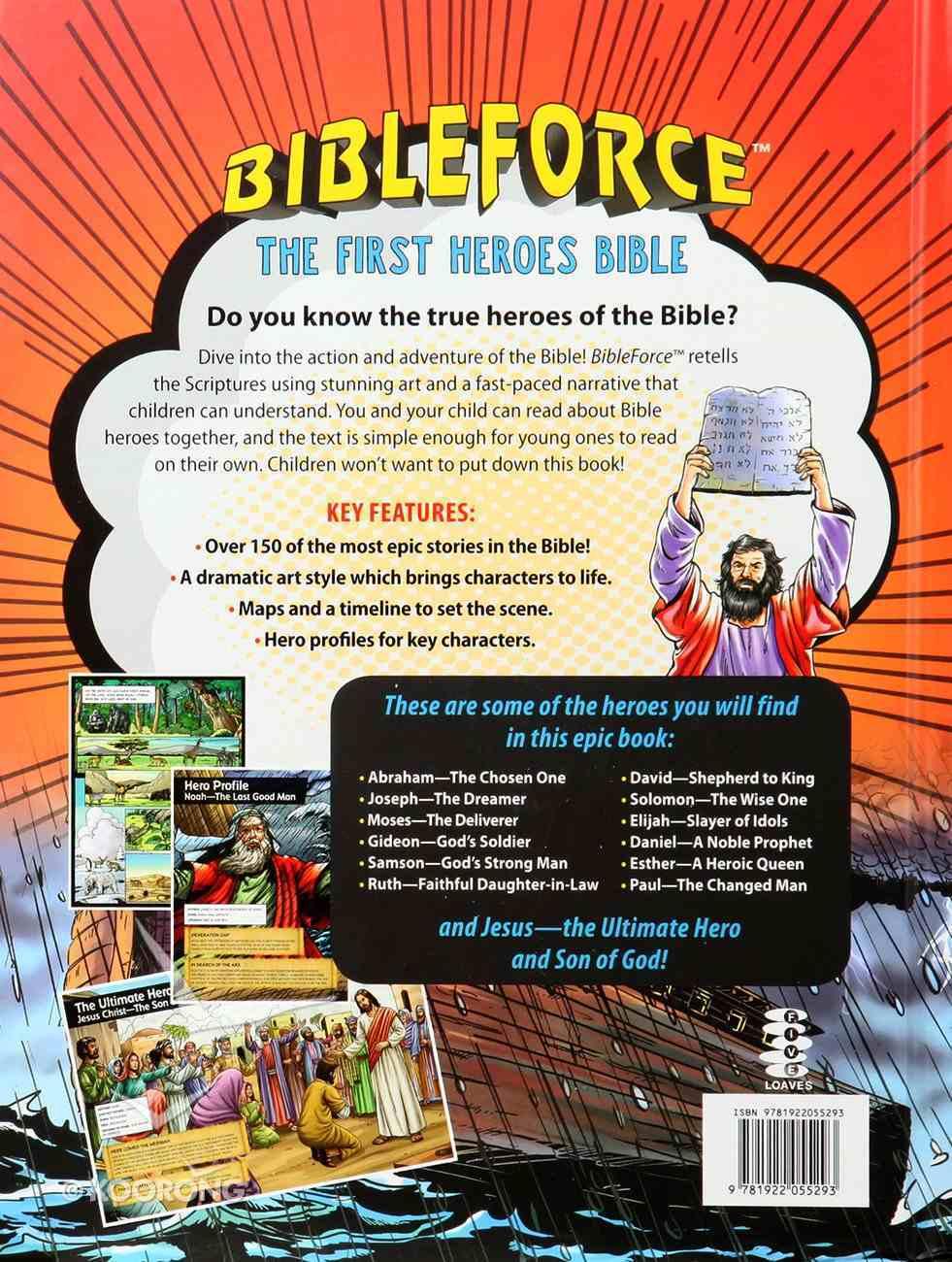 Bibleforce: The First Heroes Bible (Comic Style) Hardback