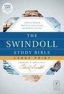 NLT Swindoll Study Bible Large Print (Black Letter Edition) Hardback