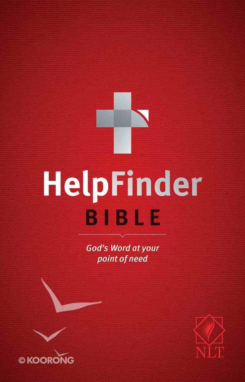 NLT Helpfinder Bible (Red Letter Edition) Paperback