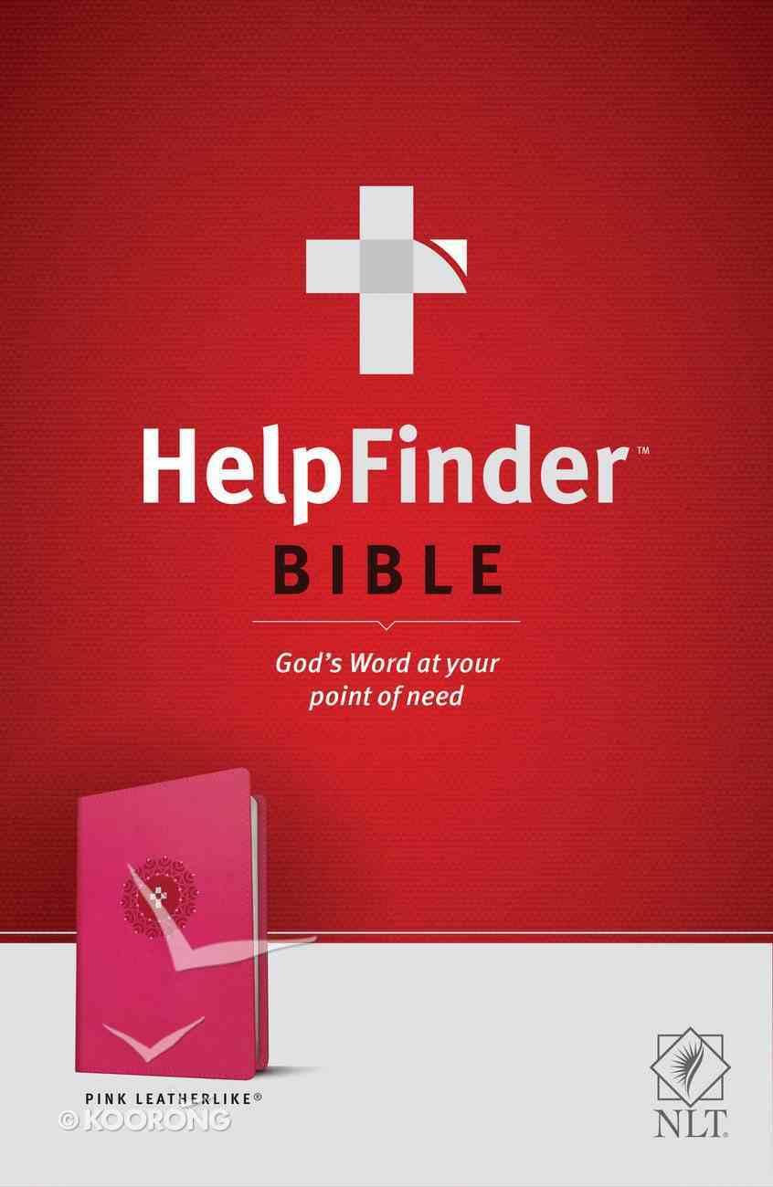 NLT Helpfinder Bible Pink (Red Letter Edition) Imitation Leather