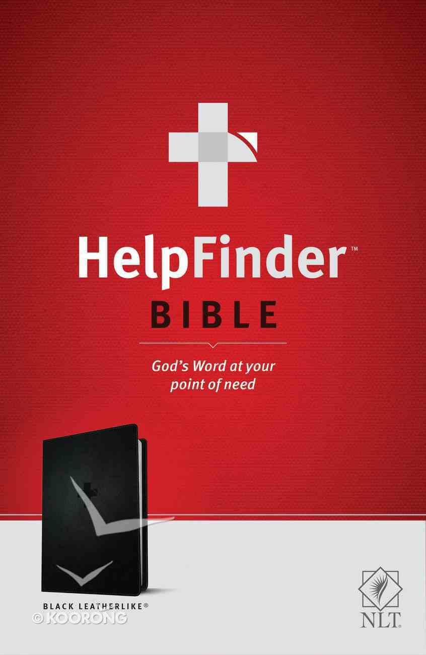 NLT Helpfinder Bible Black (Red Letter Edition) Imitation Leather