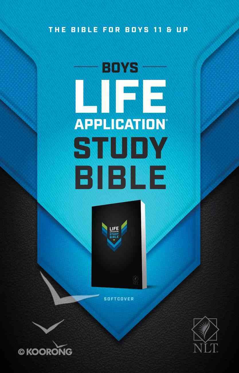 NLT Boys Life Application Study Bible (Black Letter Edition) Paperback