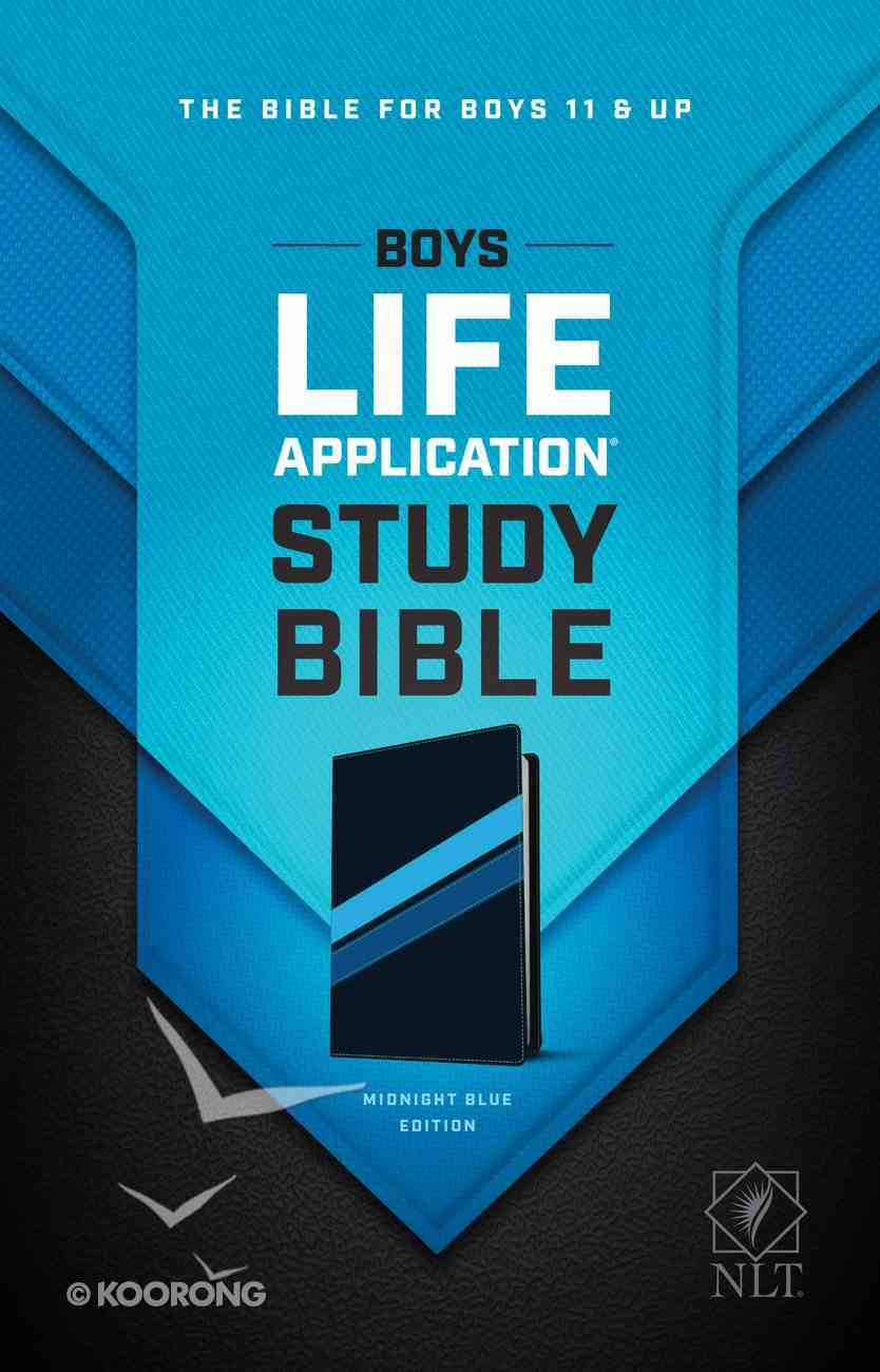 NLT Boys Life Application Study Bible Midnight Blue (Black Letter Edition) Imitation Leather