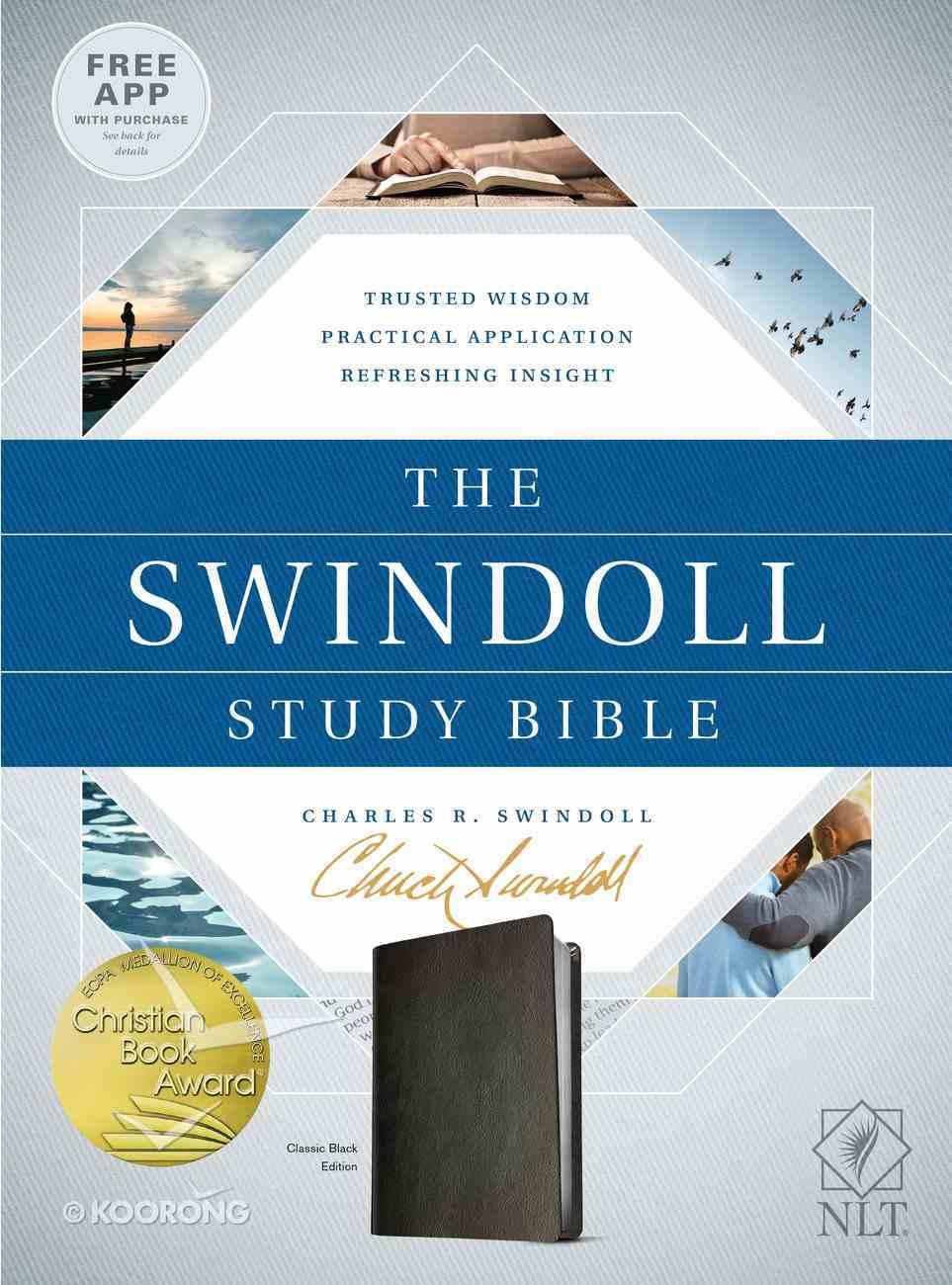 NLT Swindoll Study Bible Black Imitation Leather