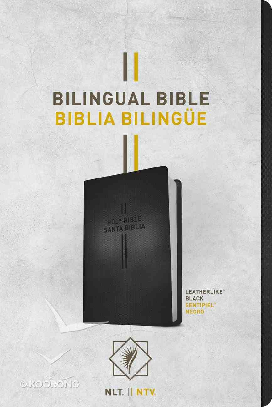 Nlt/Ntv Bilingual Bible/ Biblia Bilingue Black (Black Letter Edition) Imitation Leather