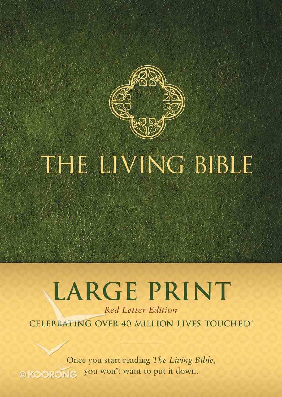 Lbp Living Bible Large Print Green (Red Letter Edition) Hardback