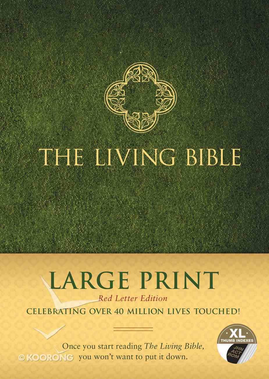 Lbp Living Bible Large Print Indexed Green (Red Letter Edition) Hardback